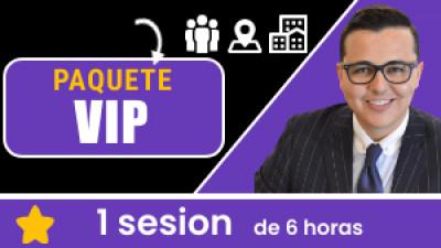 Paquete VIP PRESENCIAL: incluye 1 sesión de 6 horas. Tu eres libre de escoger el tema, la fecha, hora, ciudad y domicilio.