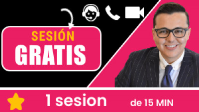 Sesión GRATIS 15 minutos: Conoce a tu coach, la plataforma y descubre como podríamos ayudarte con el tema que requieres.