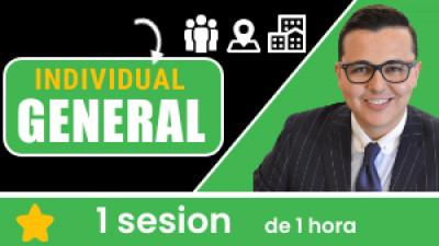 Individual GENERAL: Incluye 1 sesión de 1 hora. Tu eres libre de escoger el tema, la fecha, hora, ciudad y domicilio.